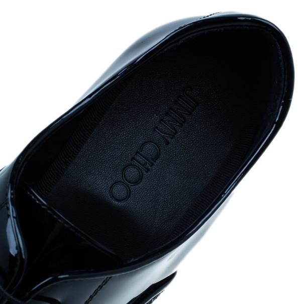 Jimmy Choo Black Patent Glitter Barker Oxfords Size 43