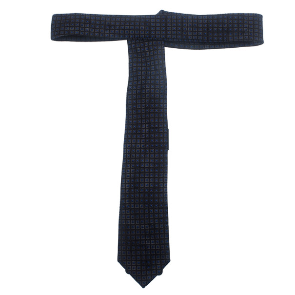 Dolce and Gabbana Black Printed Silk Tie