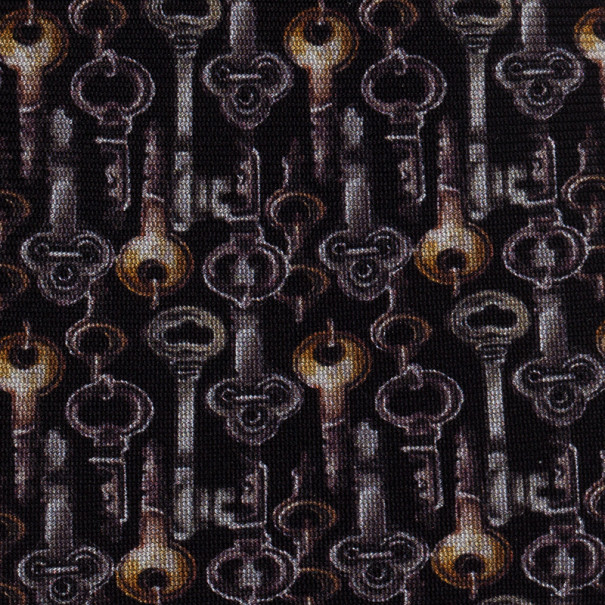 Dolce and Gabbana Black Key Print Silk Tie