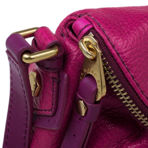 Marc by Marc Jacobs Pop Pink Leather Classic Q Natasha Bag