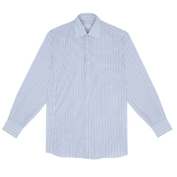 Brioni Multicolor Pinstripe Cotton Shirt EU40