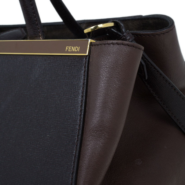Fendi Brown Leather 2 Jours Tote