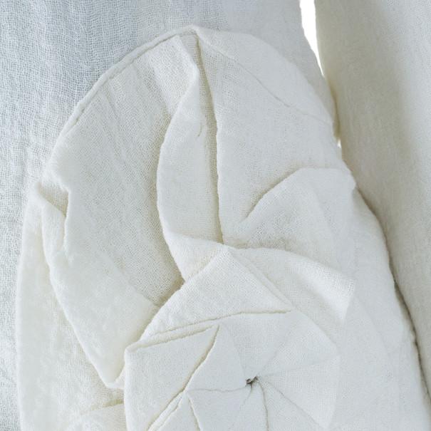 Emporio Armani White Pocket Detailed Blazer S
