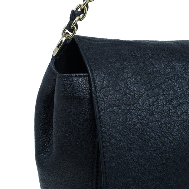 Mulberry Black Glossy Leather Lily Shoulder Bag