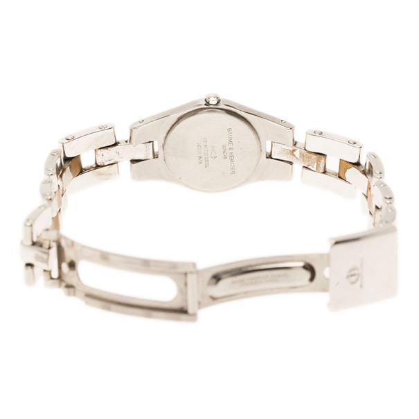Baume & Mercier Silver Stainless Steel Classic Women's Wristwatch 24MM