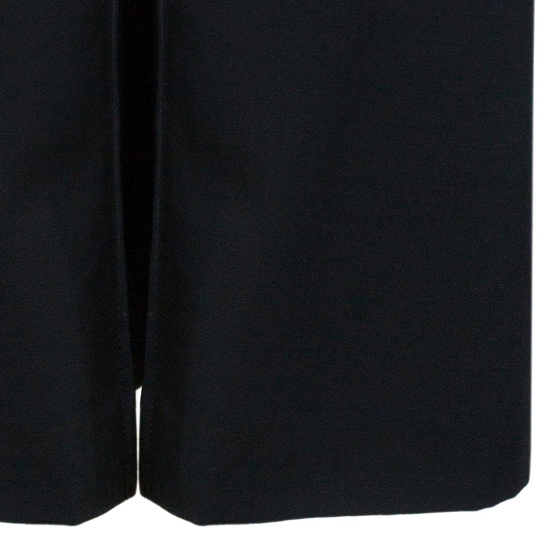 Dolce and Gabbana Black Midi A-Line Skirt M