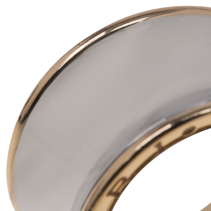 Bvlgari Anish Kapoor B.Zero1 Pink Gold and Steel Ring Size 52