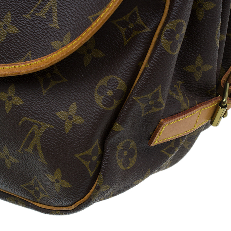 Louis Vuitton Monogram Canvas Saumur Messenger 35 Bag