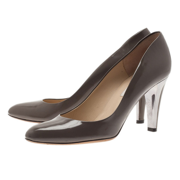 Jimmy Choo Brown Patent Pumps Size 39