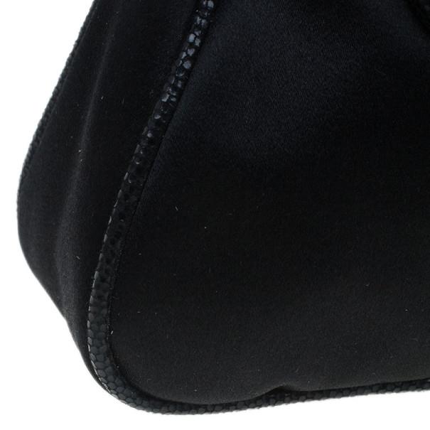 Fendi Black Satin Clutch