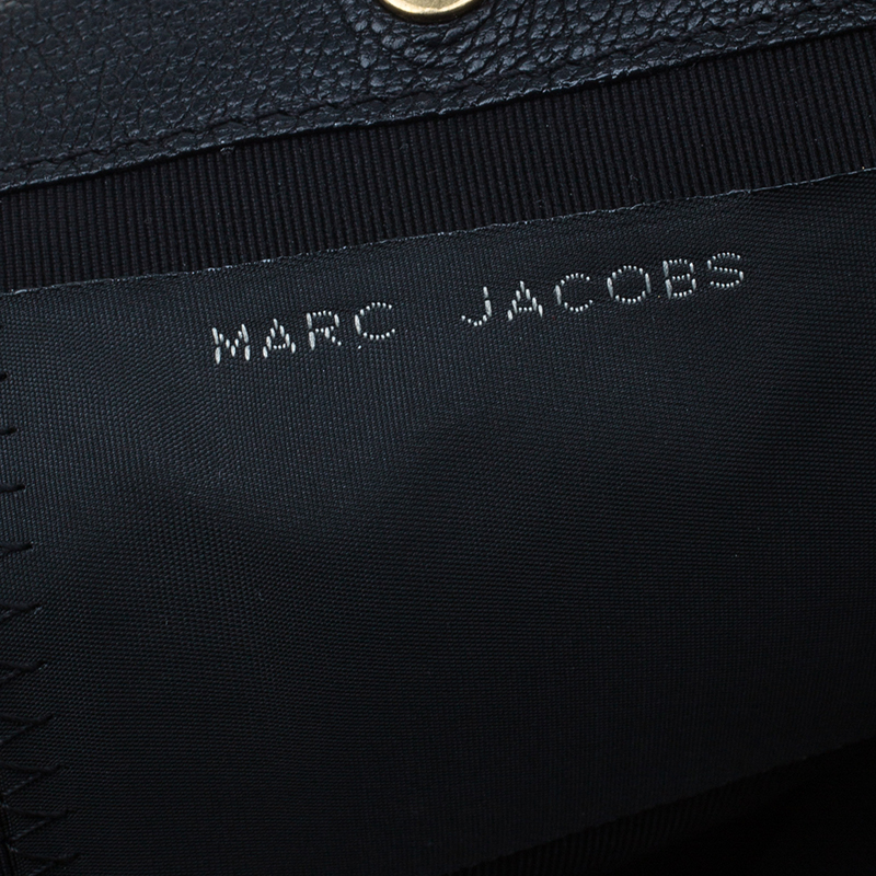 Marc Jacobs Black Leather Sandy Eyelets Shoulder Bag