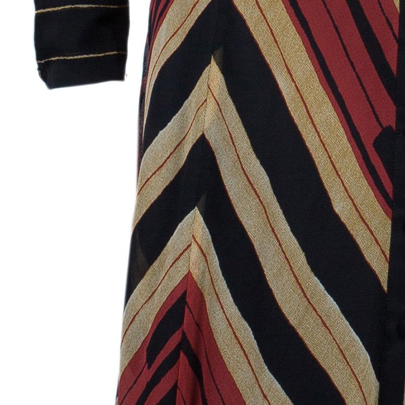 Diane Von Furstenberg 'Hannah' Tricolor Dress M