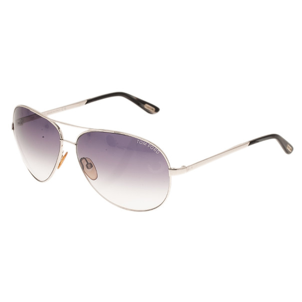 Tom Ford Silver Charles Unisex Aviators