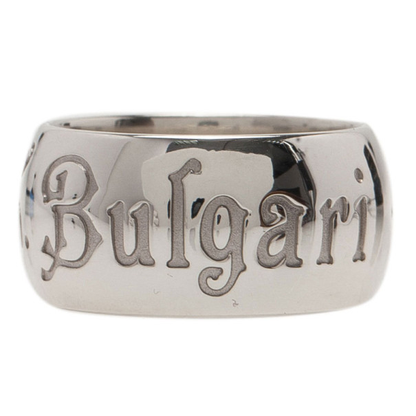 Bvlgari Save The Chidren Silver Band Ring Size 53