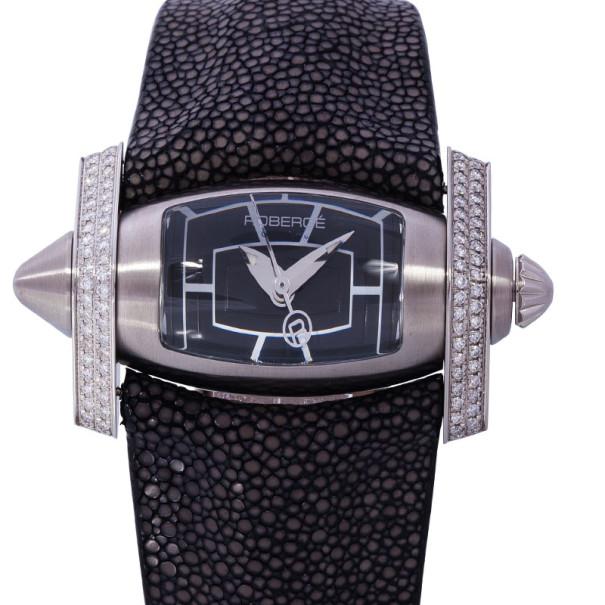 Roberge Black Stainless Steel Virgo Women's Wristwatch 48MM