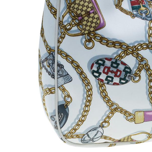Gucci Printed Satin Silk Hobo