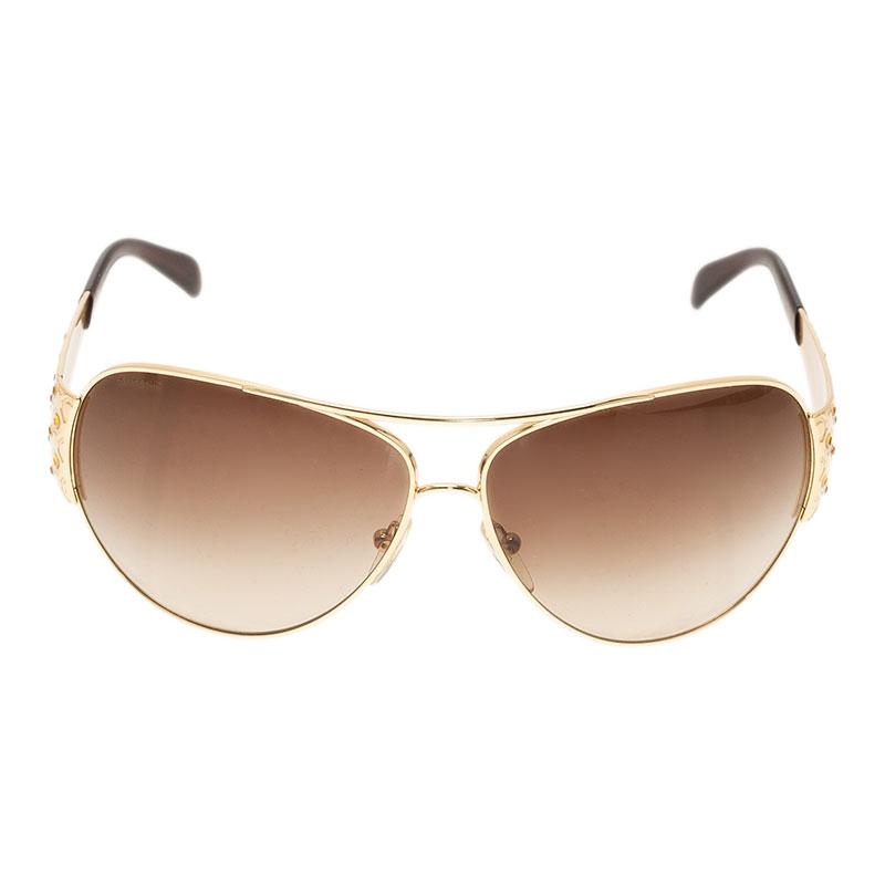 Prada Gold SPR 65I Sunglasses