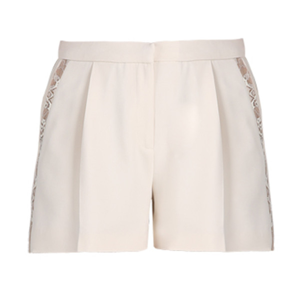 Elie Saab White Lace-Detailed Shorts S