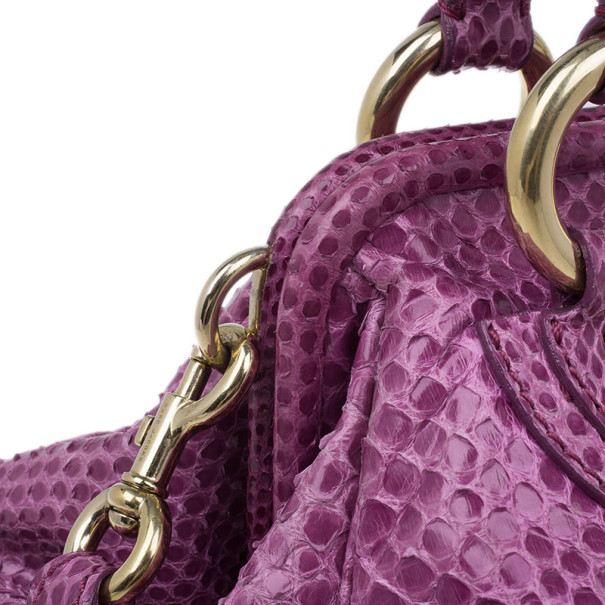 Marc Jacobs Purple Python Patchwork Stam Satchel