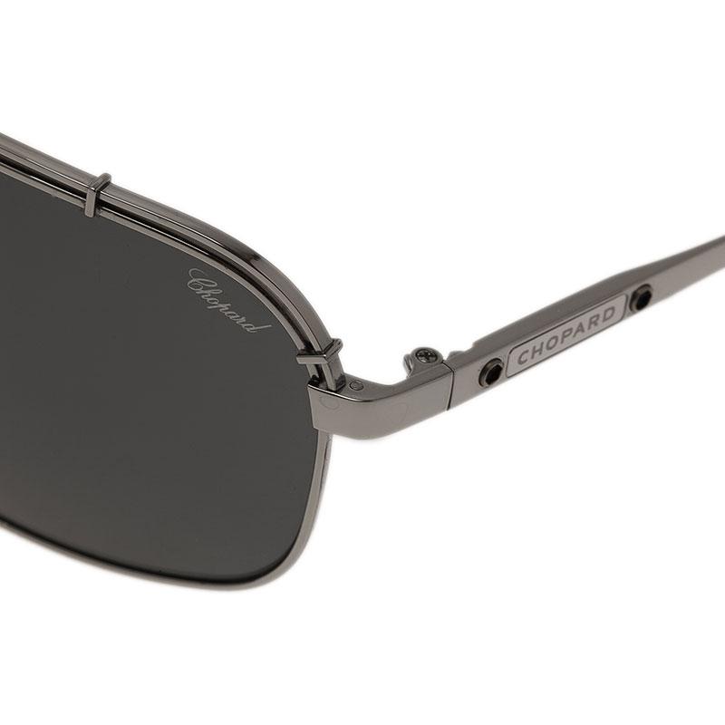 Chopard Silver and Black SCHA02M Aviators