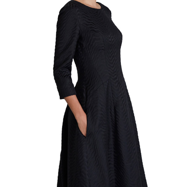 Jason Wu Black Silk-Jacquard Gown M