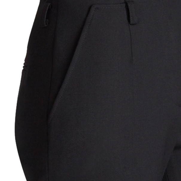 Jason Wu Black Wool Boot-Leg Trousers L