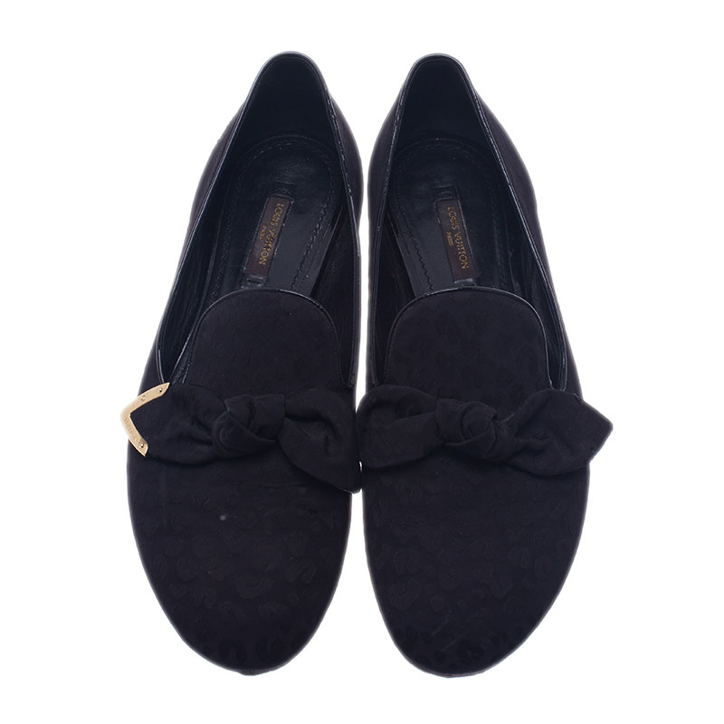 Louis Vuitton Black Stephen Sprouse Silk Amulet Loafers Size 39