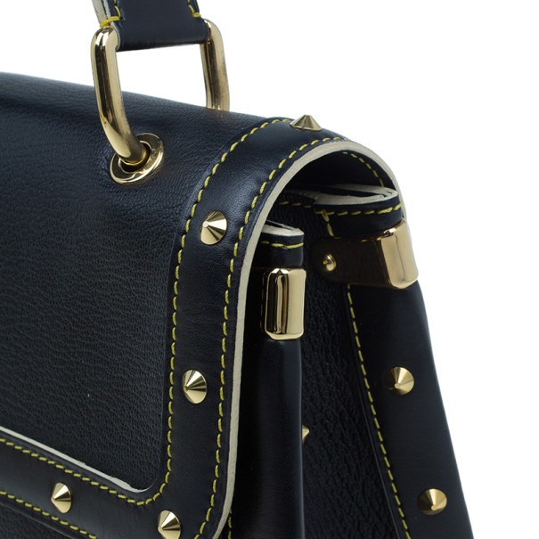Louis Vuitton Black Suhali Leather L'Aimable Tote