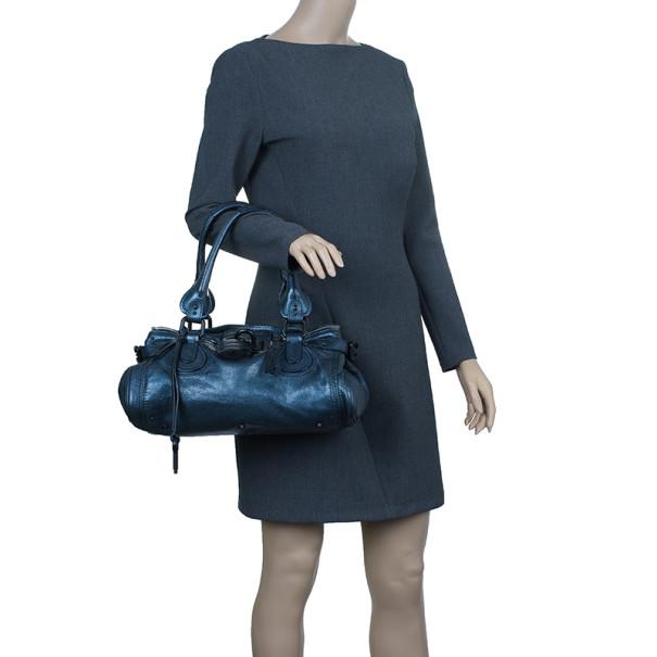 Chloe Electric Blue Paddington Shoulder Bag