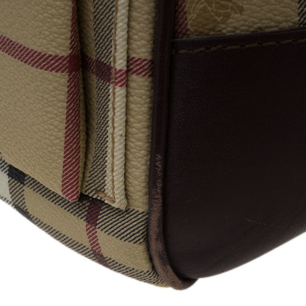 Burberry Haymarket Coated Canvas Luggage Bag