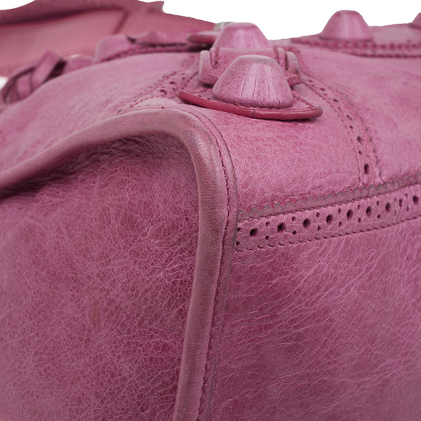 Balenciaga Pink Giant Brogues Work Bag