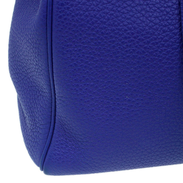 Hermes Bleu Royale Cuir Palladium Hardware Kelly 40