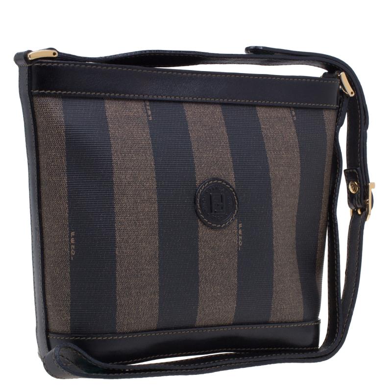 Fendi Black Pequin Crossbody Small bag
