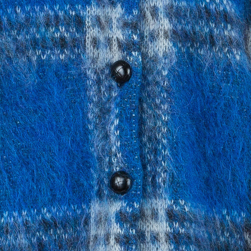 Saint Laurent Paris Blue Plaid Sweater M