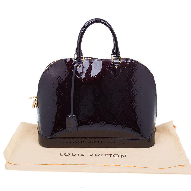 Louis Vuitton Burgundy Monogram Vernis Alma GM