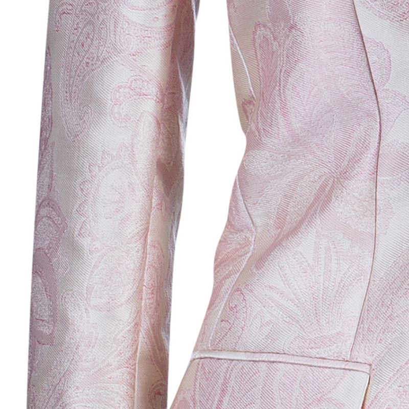 Stella McCartney Pink Brocade Blazer S