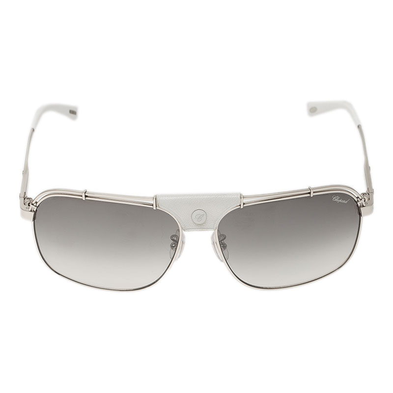 Chopard Silver and White SCHA02 Aviators