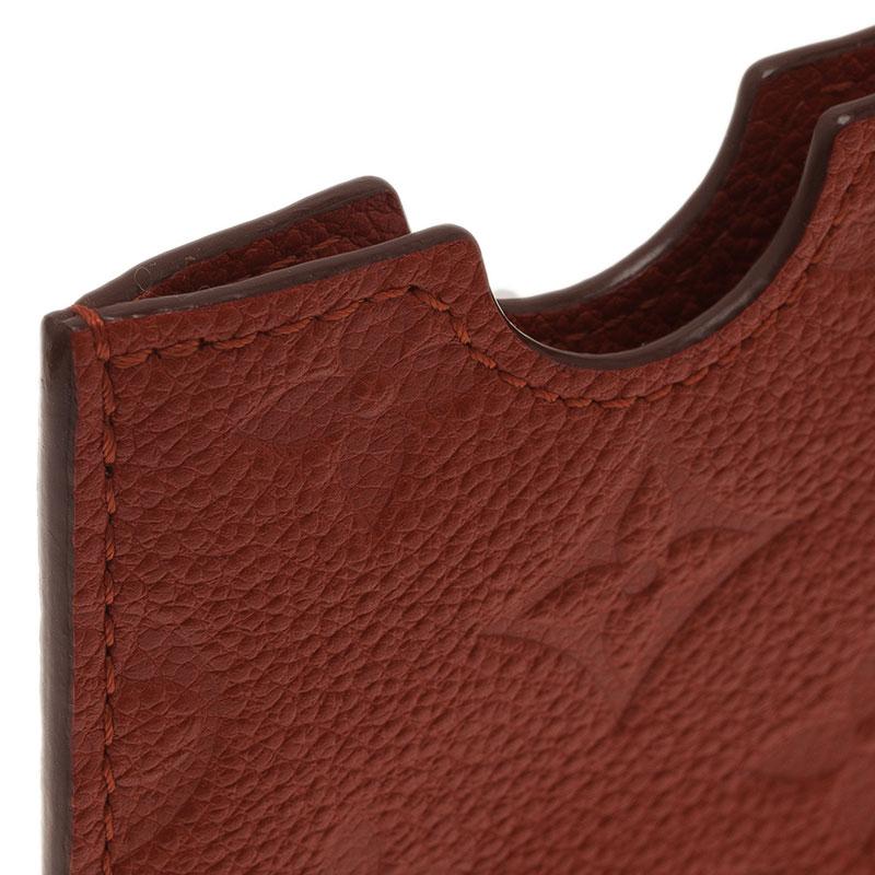Louis Vuitton Orange Monogram Leather iPhone Case