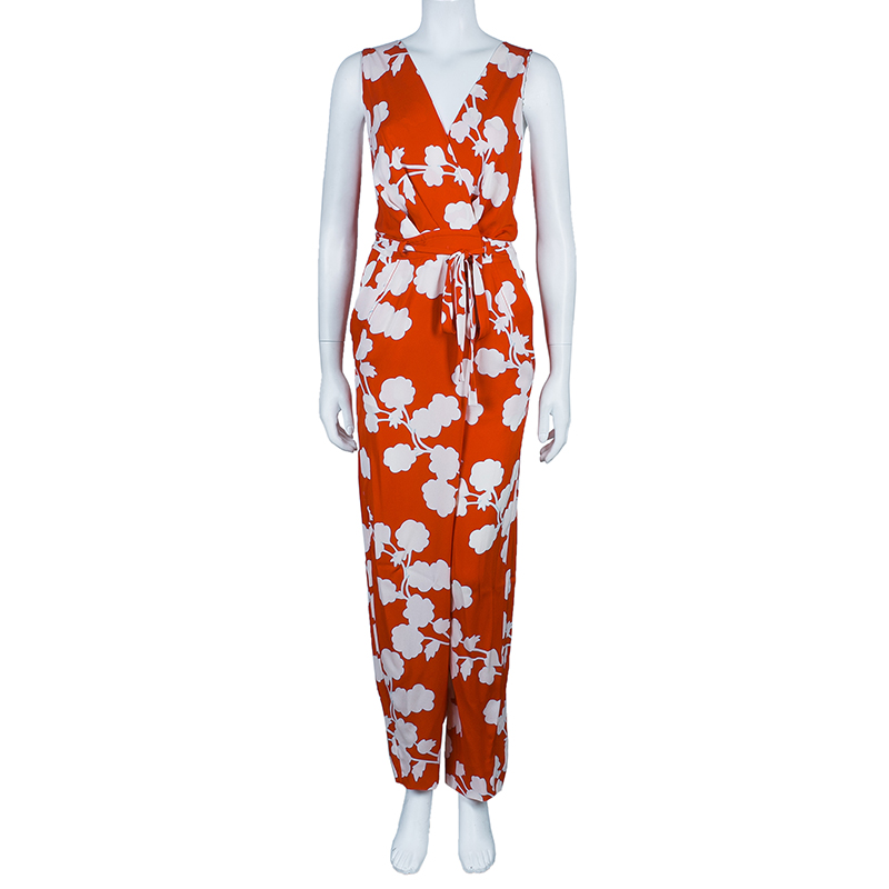 Diane von Furstenberg Red Johnseen Jumpsuit S