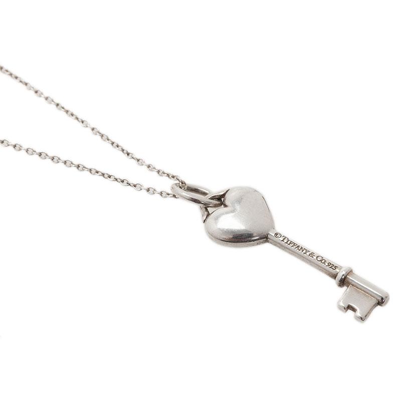 Tiffany & Co. Tiffany Keys Heart Key Silver Charm Necklace
