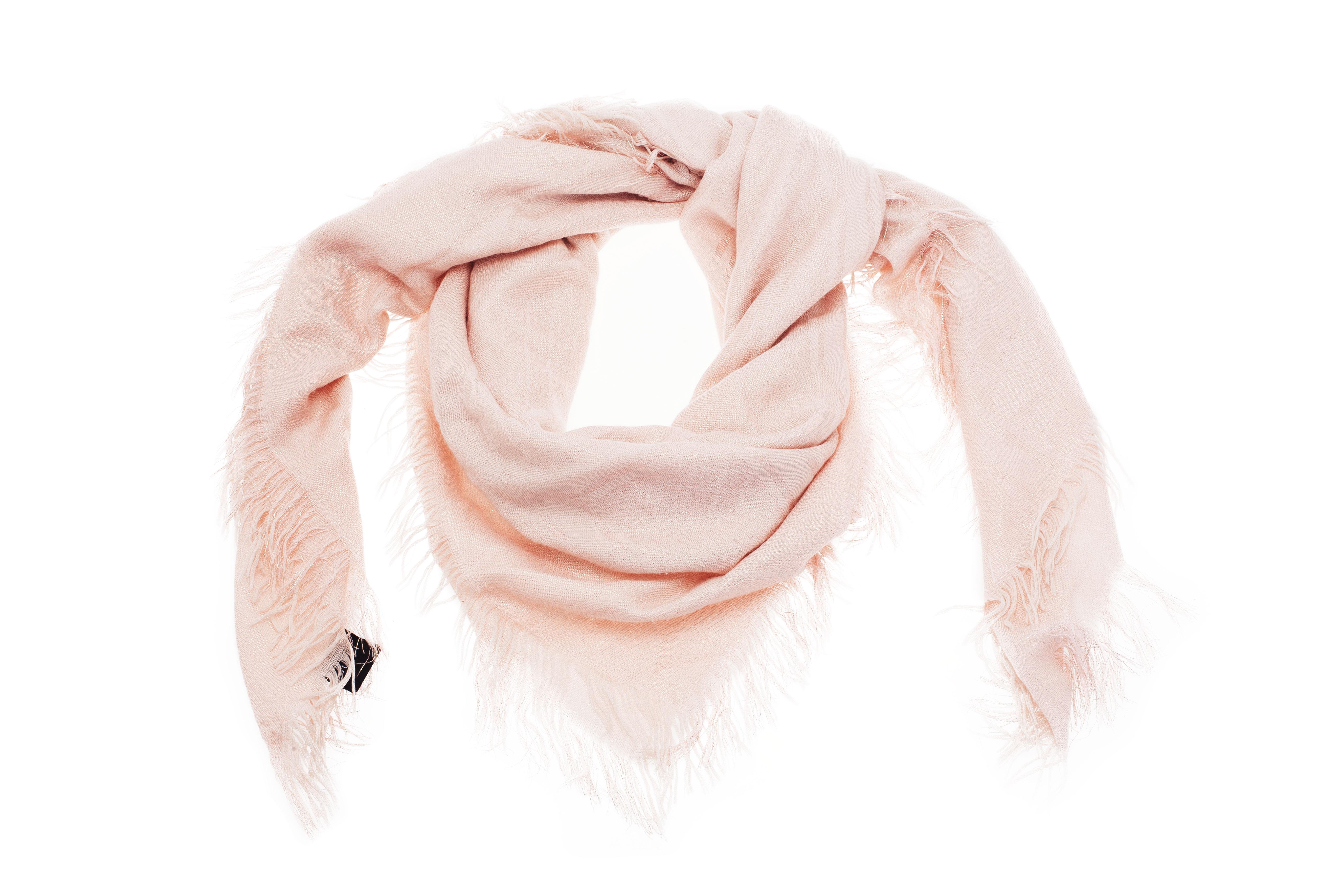 Gucci Pink Guccissima Shimmer Shawl