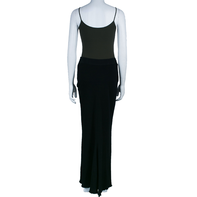 Lanvin Black Maxi Skirt L