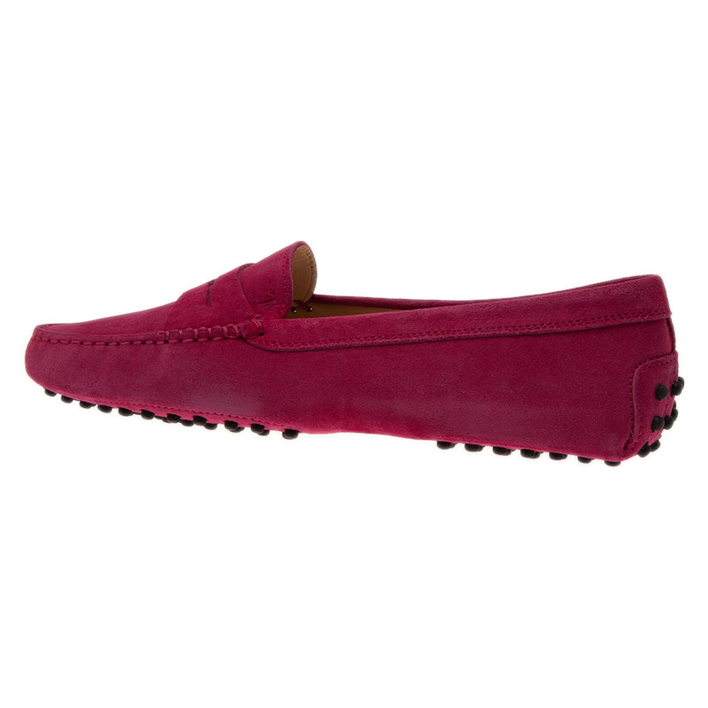Tod's Pink Suede Penny Loafers Size 39