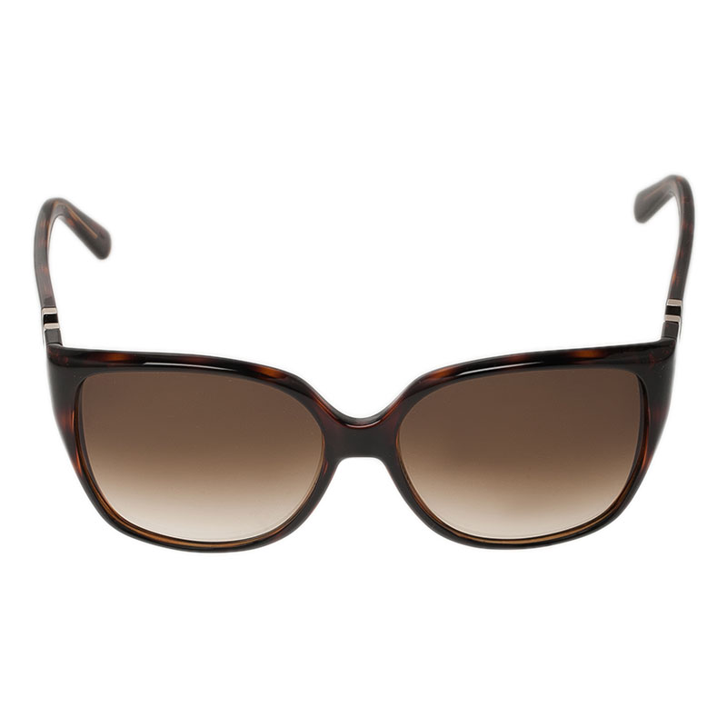 Valentino Brown V624S Oversized Cat Eye Sunglasses