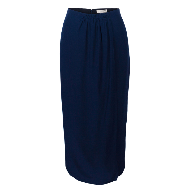 Burberry Navy Blue A-Line Skirt S