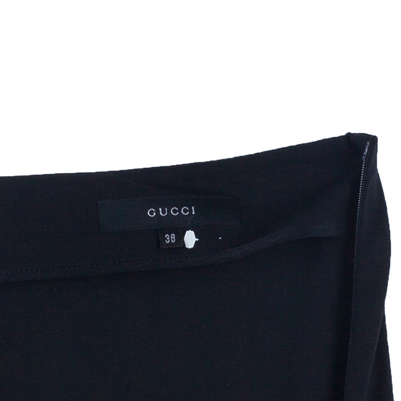 Gucci Black Pencil Skirt S