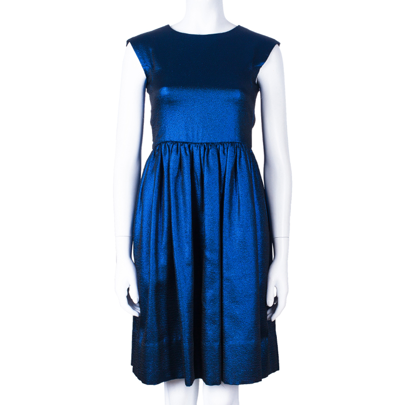 Marc by Marc Jacobs True Blue Metallic Dress S