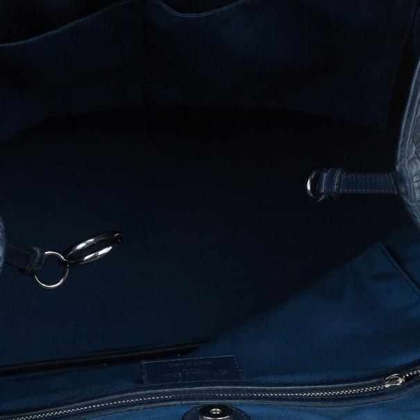 Dior Navy Coated Canvas Medium 'Panarea' Tote