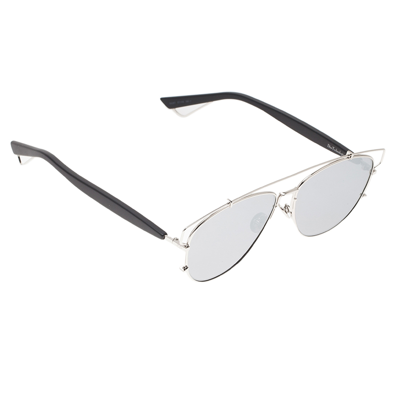 Dior Silver Technologic Cut Out Aviators