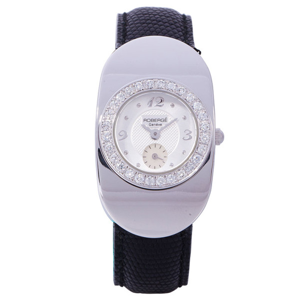 Roberge White 18K White Gold Intuition Women's Wristwatch 25MM